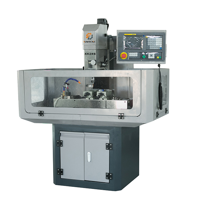 China Mini CNC Mill XK28S with Half Cover Protection
